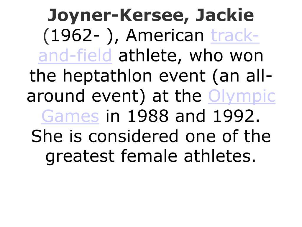 Joyner-Kersee, Jackie