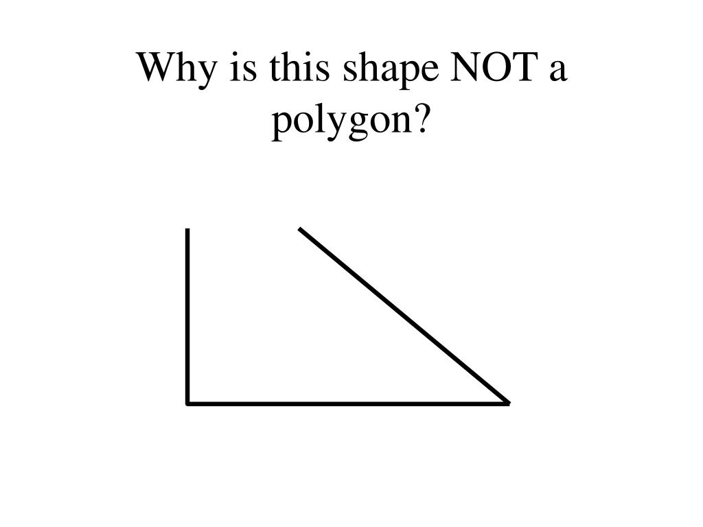 Why is this shape NOT a polygon?