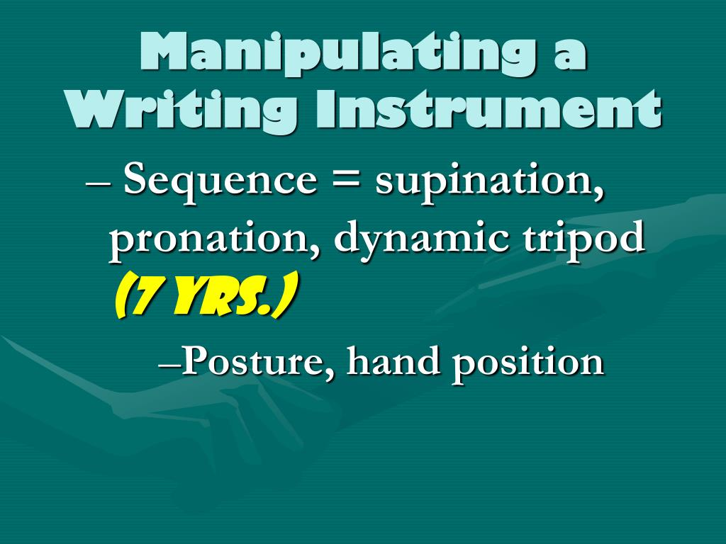 Manipulating a Writing Instrument