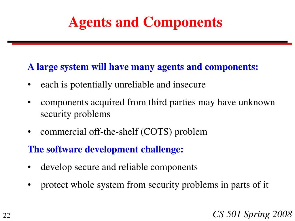 Agents and Components