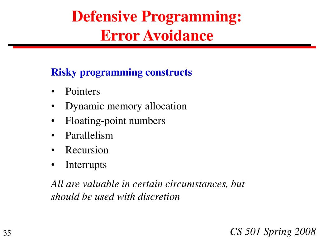 Defensive Programming: