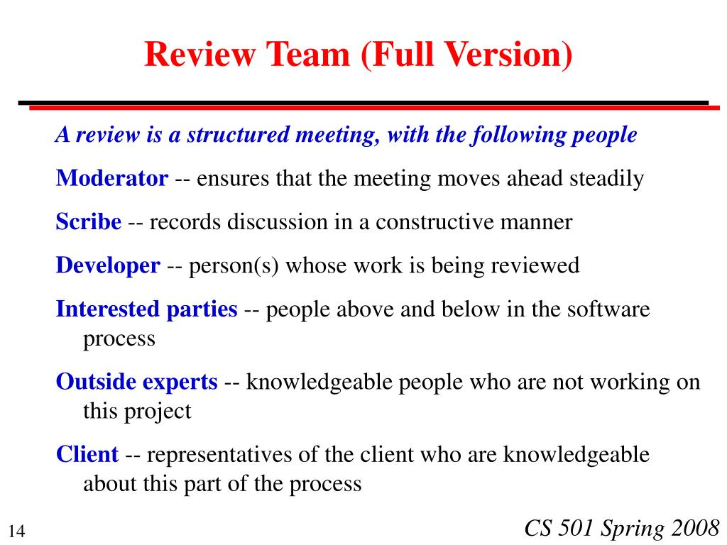 Review Team (Full Version)