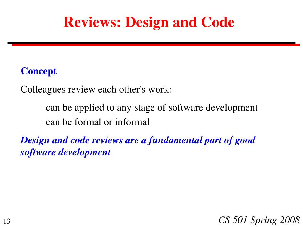 Reviews: Design and Code
