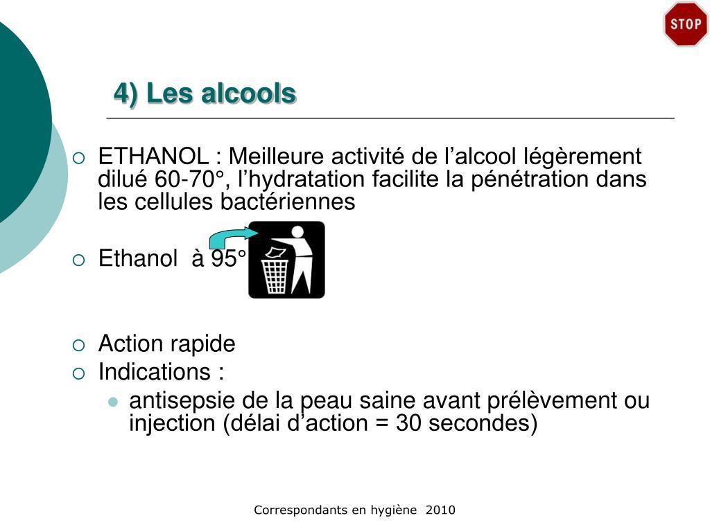 4) Les alcools