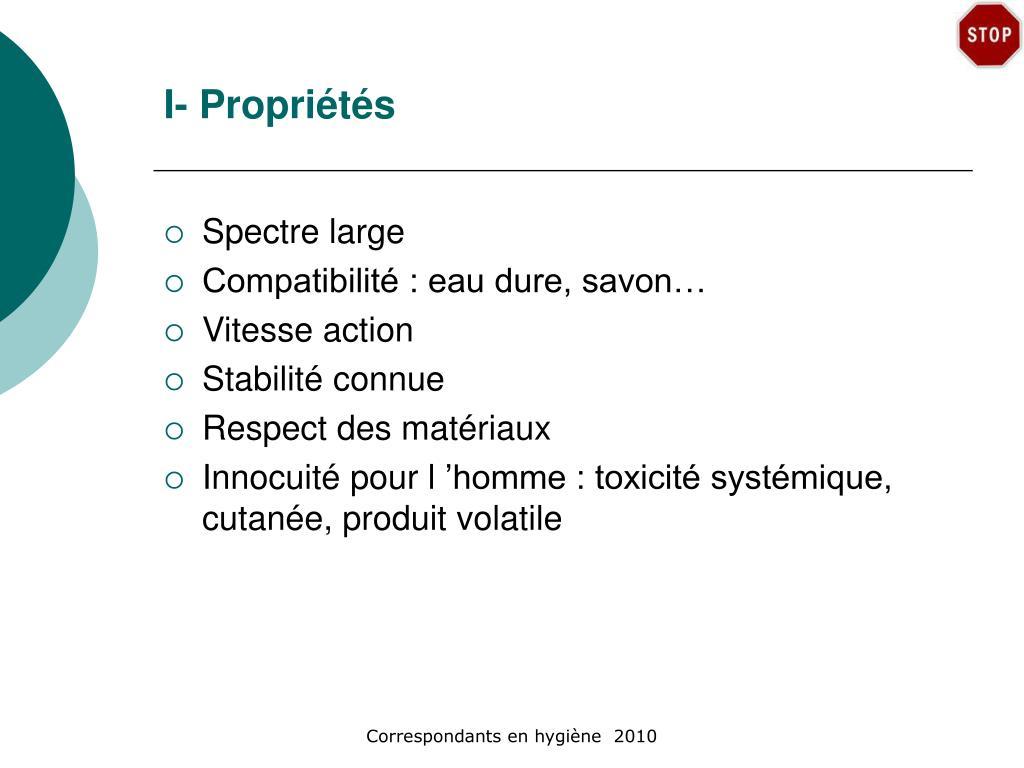 I- Propriétés