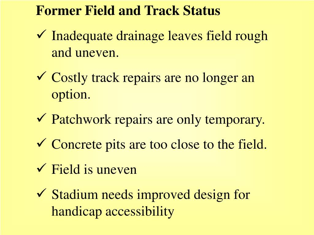 Former Field and Track Status