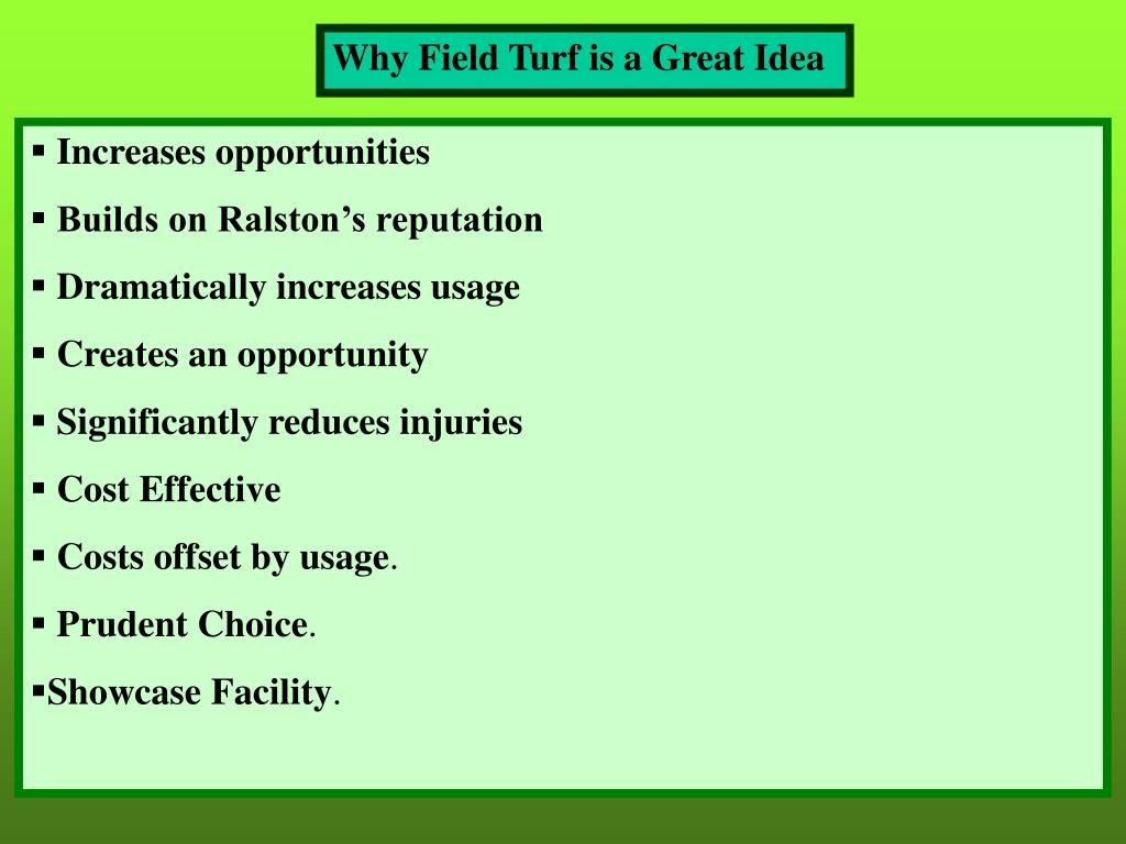 Why Field Turf is a Great Idea