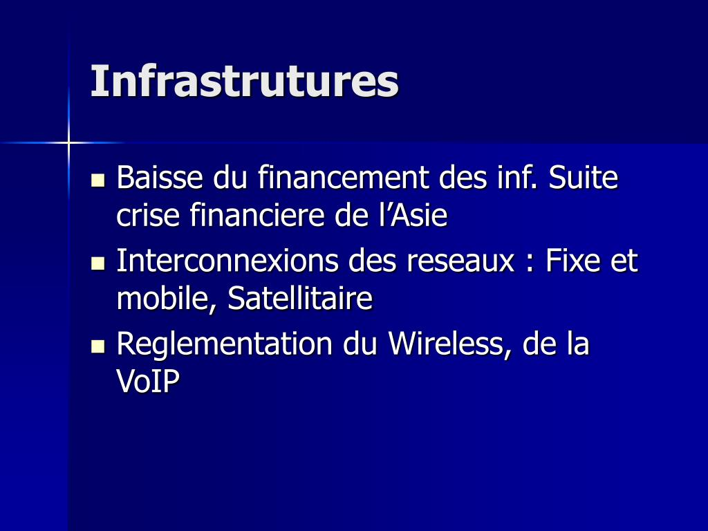 Infrastrutures