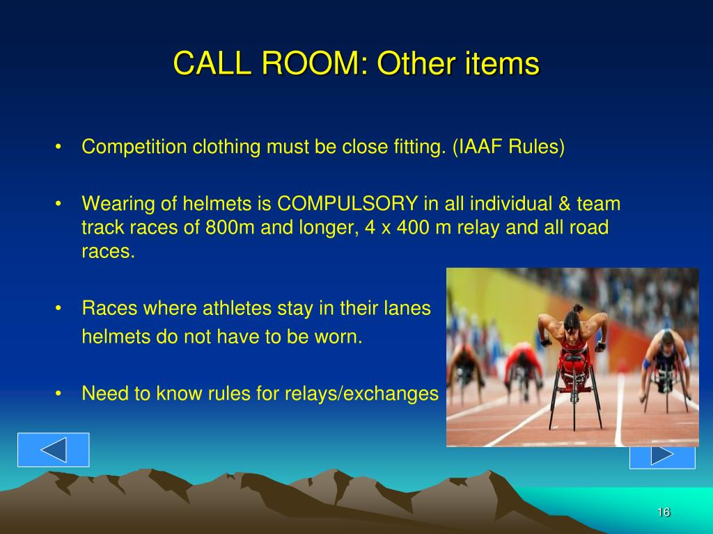 CALL ROOM: Other items