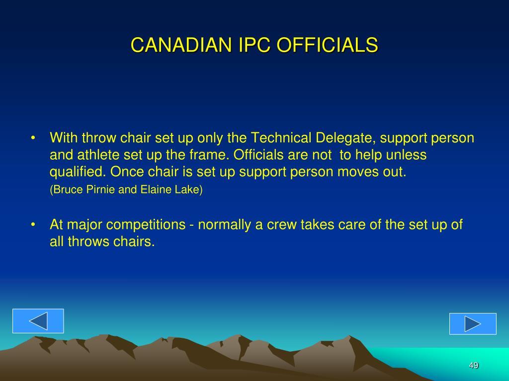 CANADIAN IPC OFFICIALS
