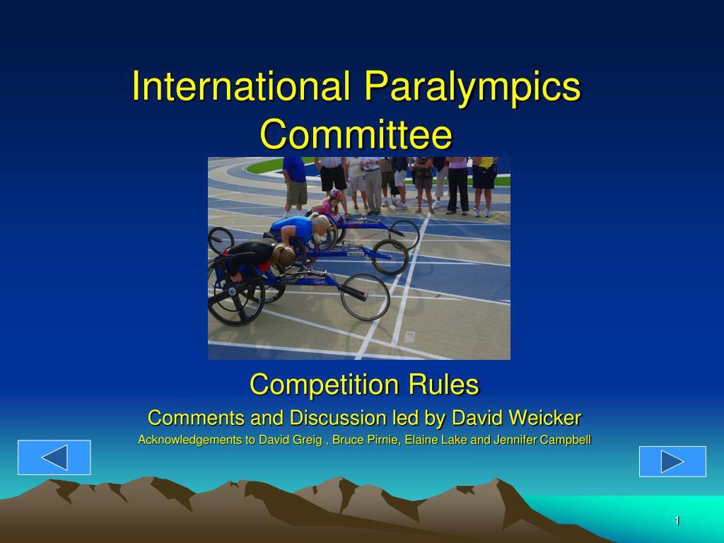 International Paralympics Committee
