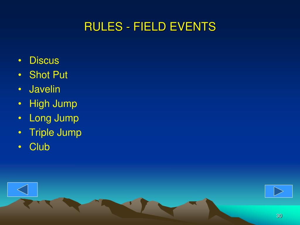 RULES - FIELD EVENTS