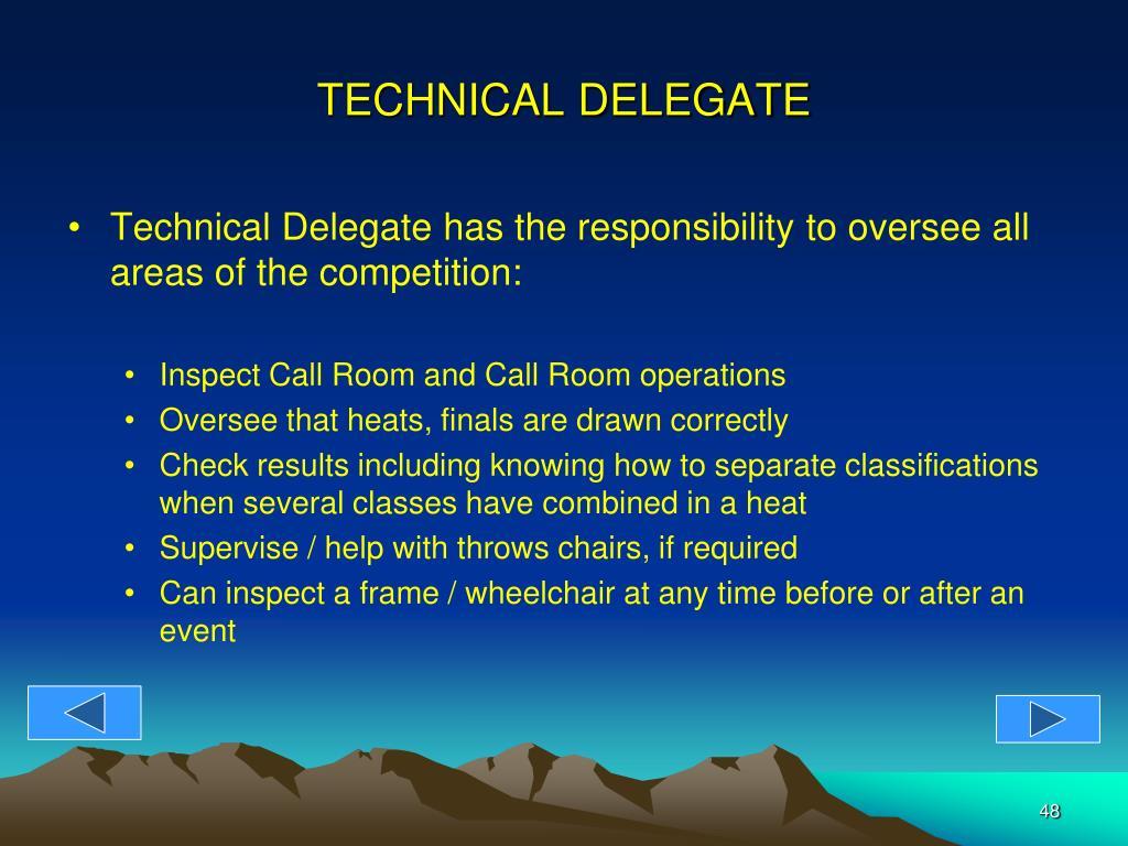 TECHNICAL DELEGATE