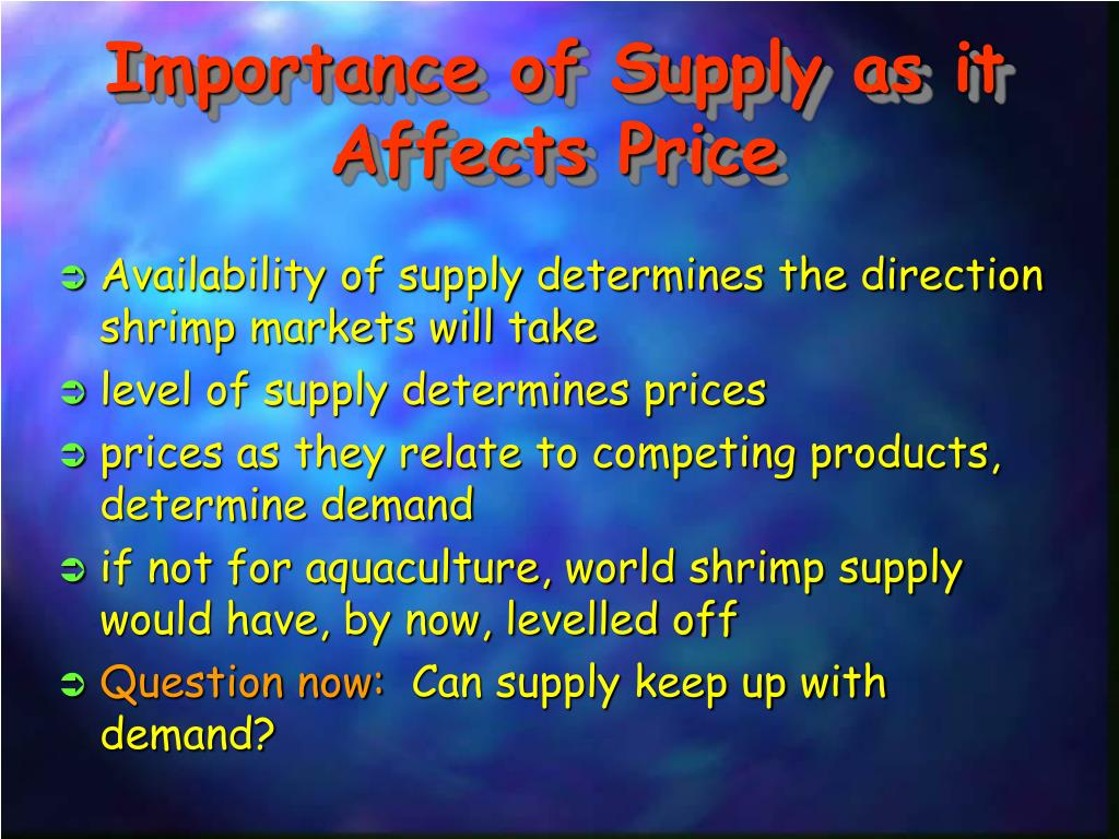 Importance of Supply as it Affects Price