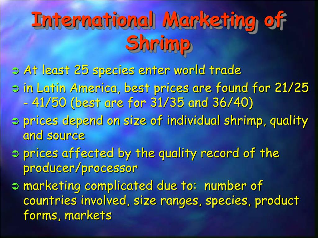 International Marketing of Shrimp