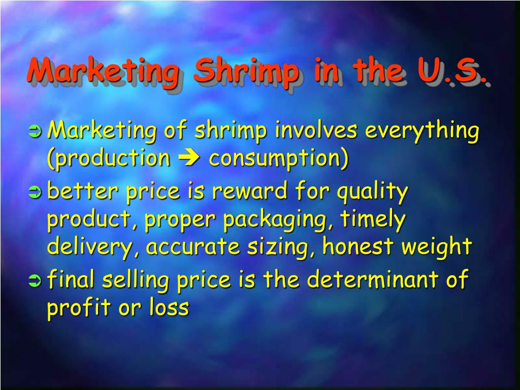 Marketing Shrimp in the U.S.