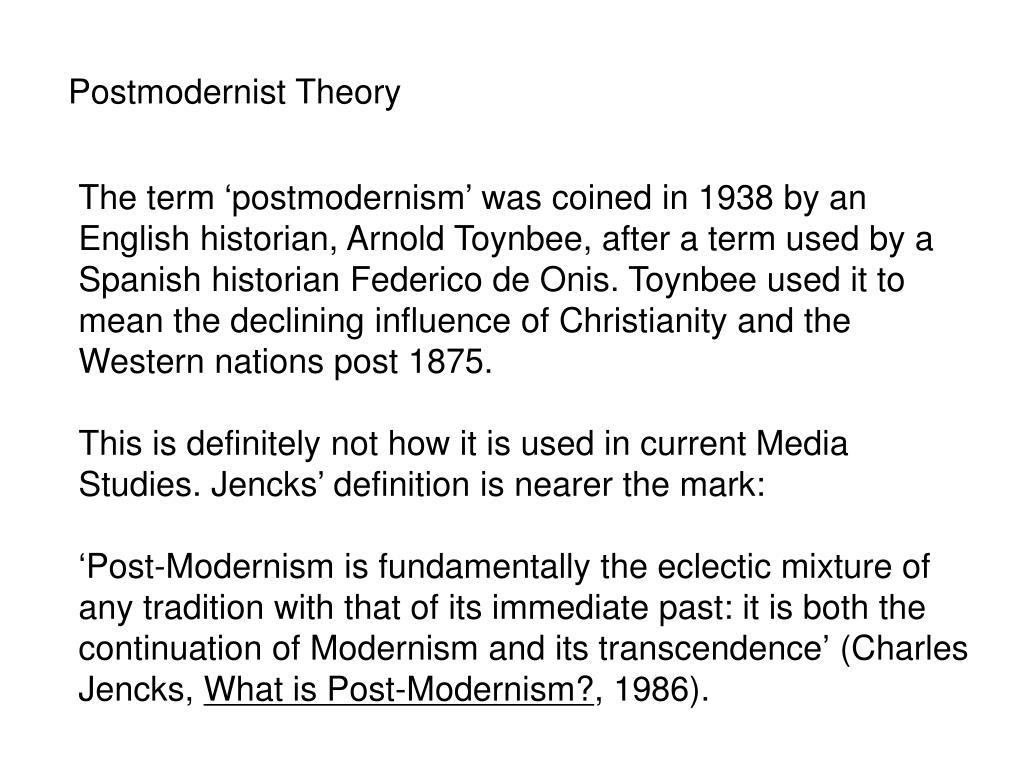 Postmodernist Theory