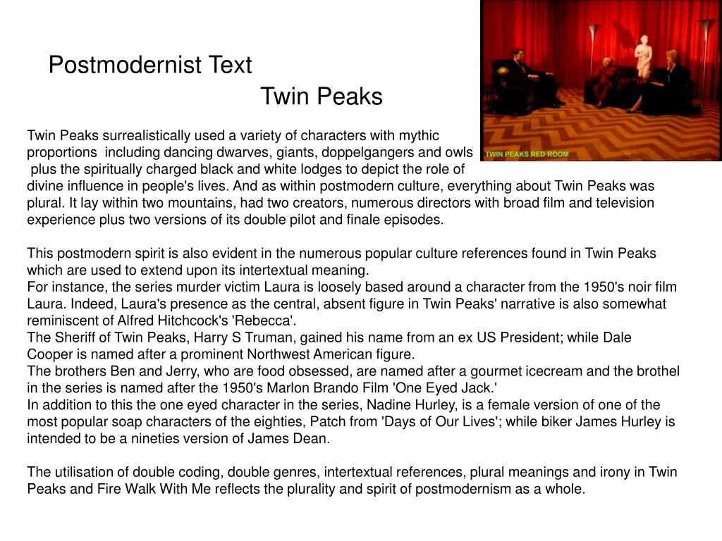 Postmodernist Text