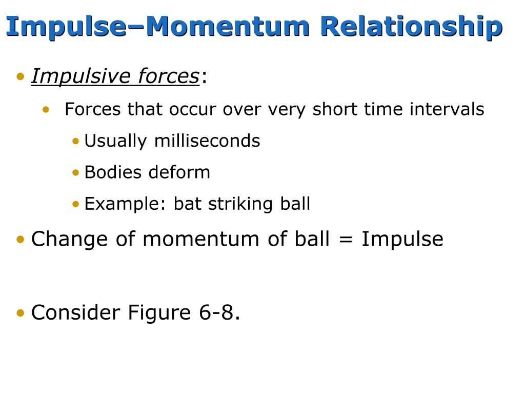 Impulse–Momentum Relationship