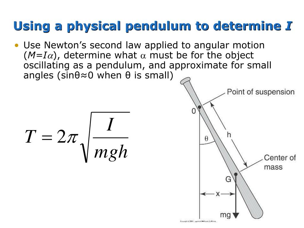 Using a physical pendulum to determine