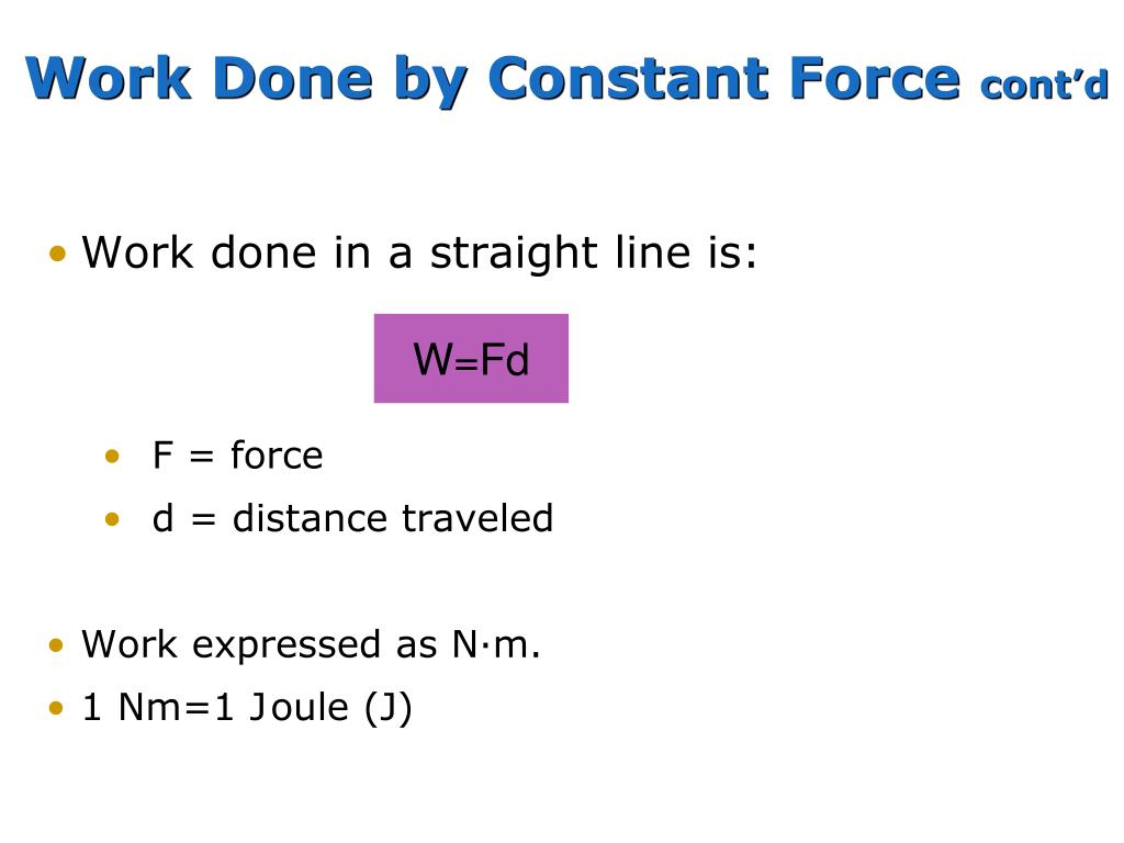 Work Done by Constant Force