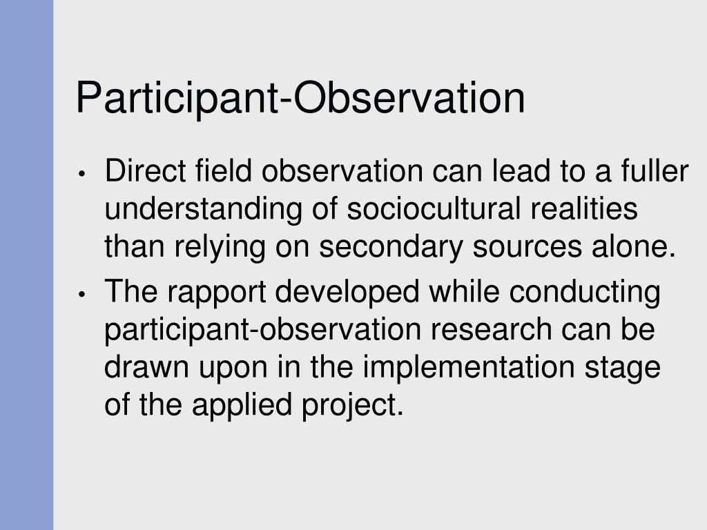 participant observation understanding society essay Participant_observation_essay use of participant observation justification demonstrate understanding, limitations of participant comer society.