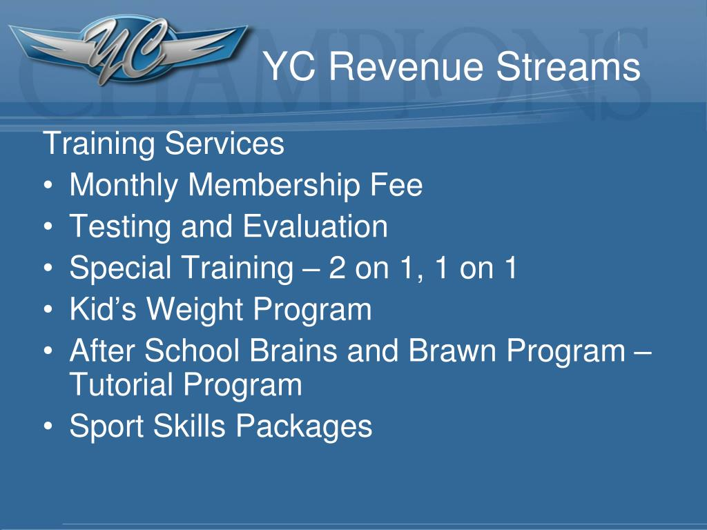 YC Revenue Streams