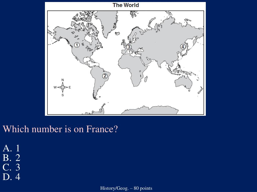 Which number is on France?