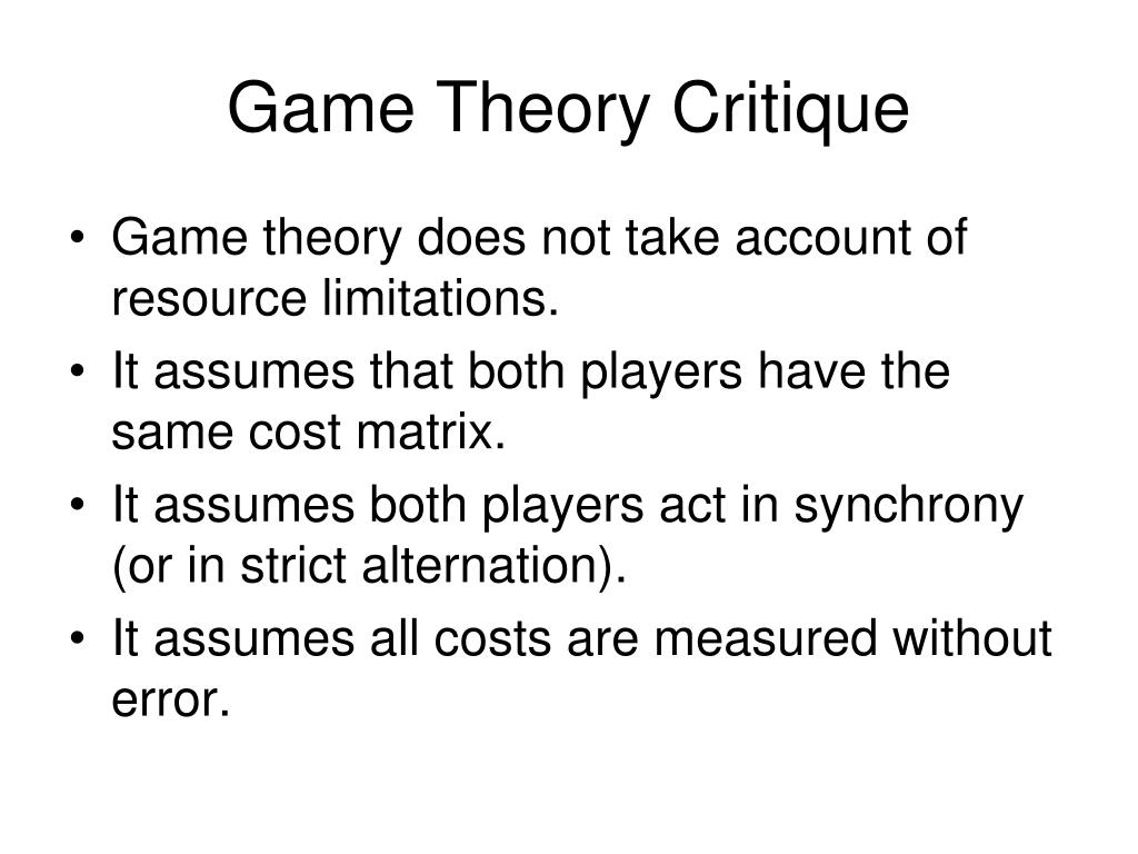 Game Theory Critique