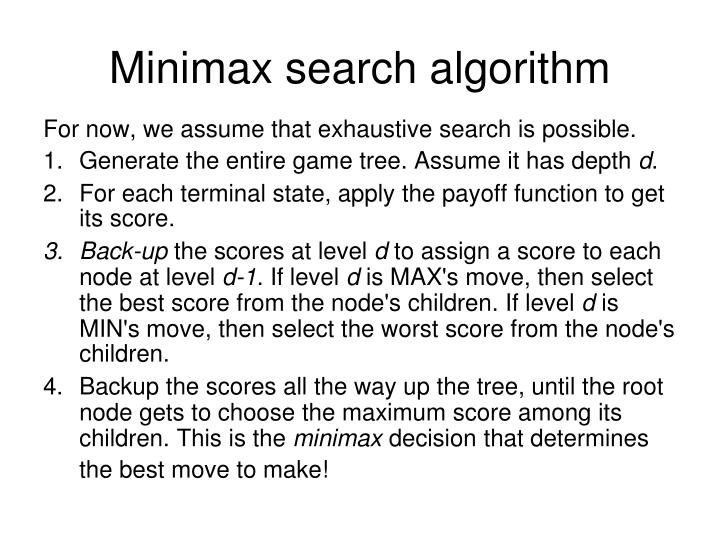 Minimax search algorithm l.jpg
