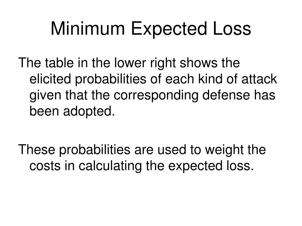 Minimum Expected Loss