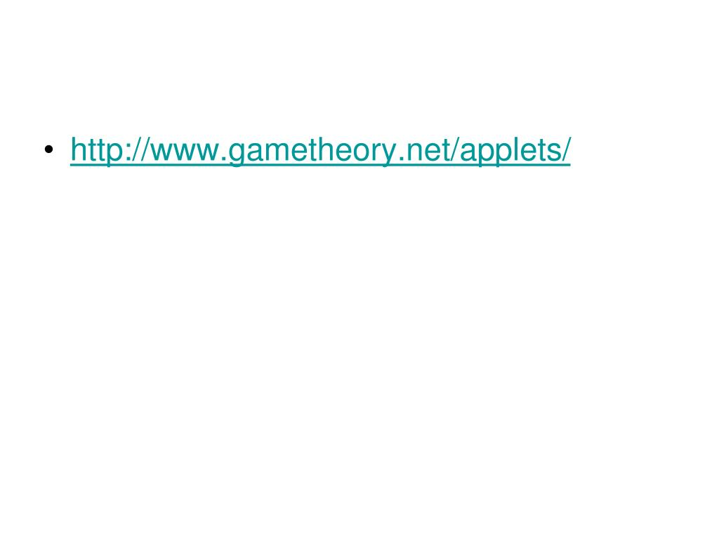 http://www.gametheory.net/applets/