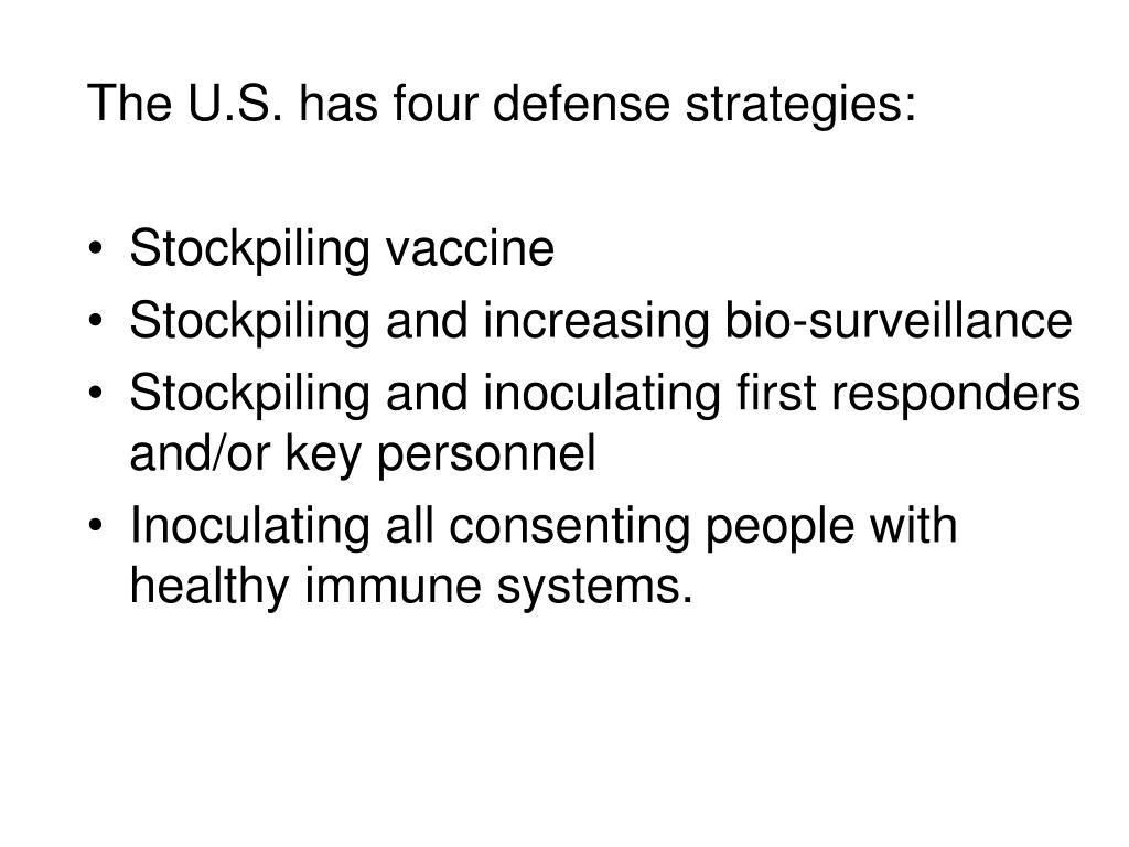 The U.S. has four defense strategies: