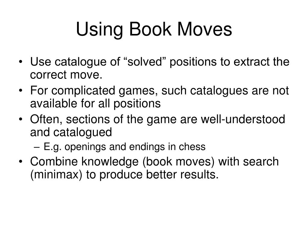 Using Book Moves