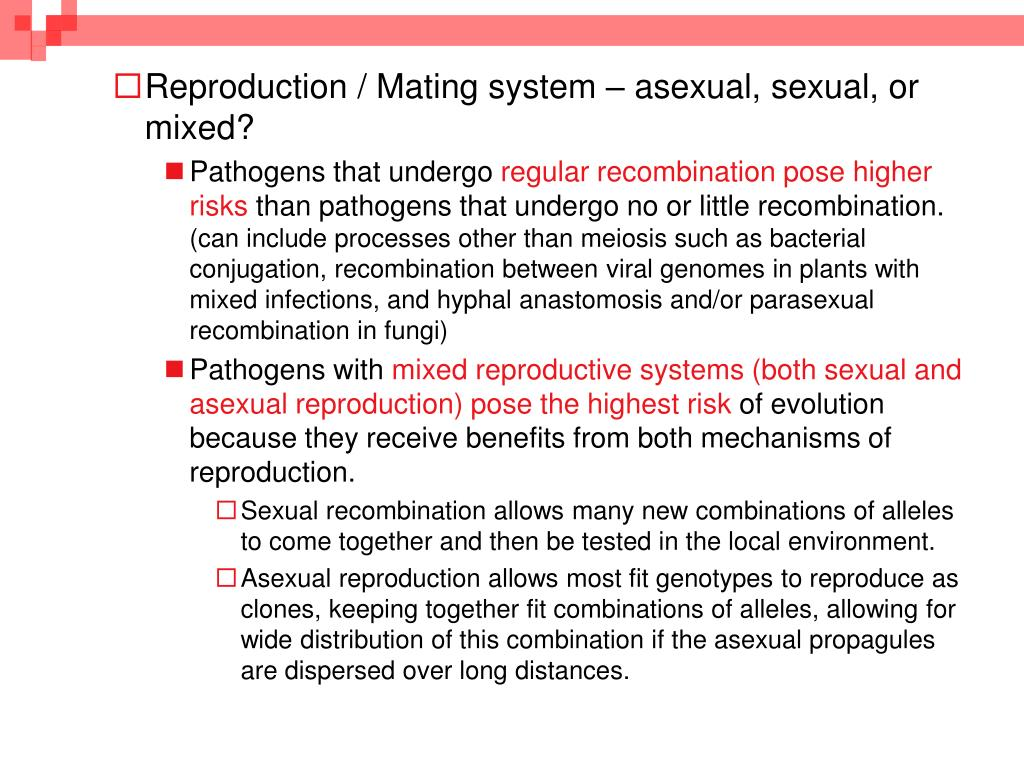 Reproduction / Mating system – asexual, sexual, or mixed?