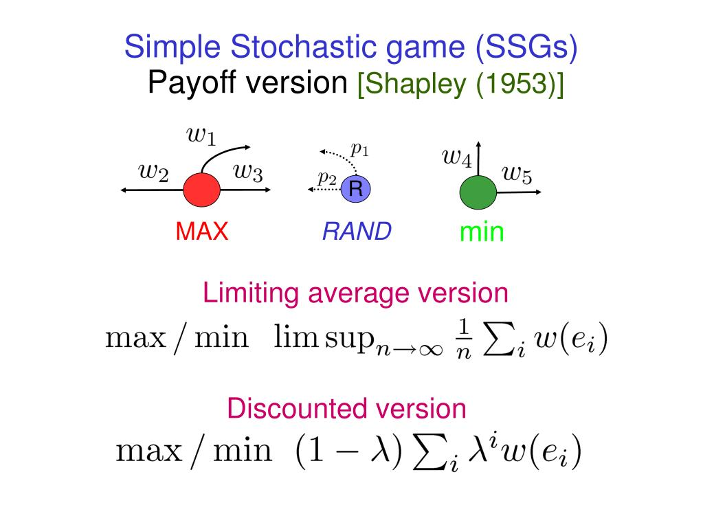 Simple Stochastic game (SSGs)