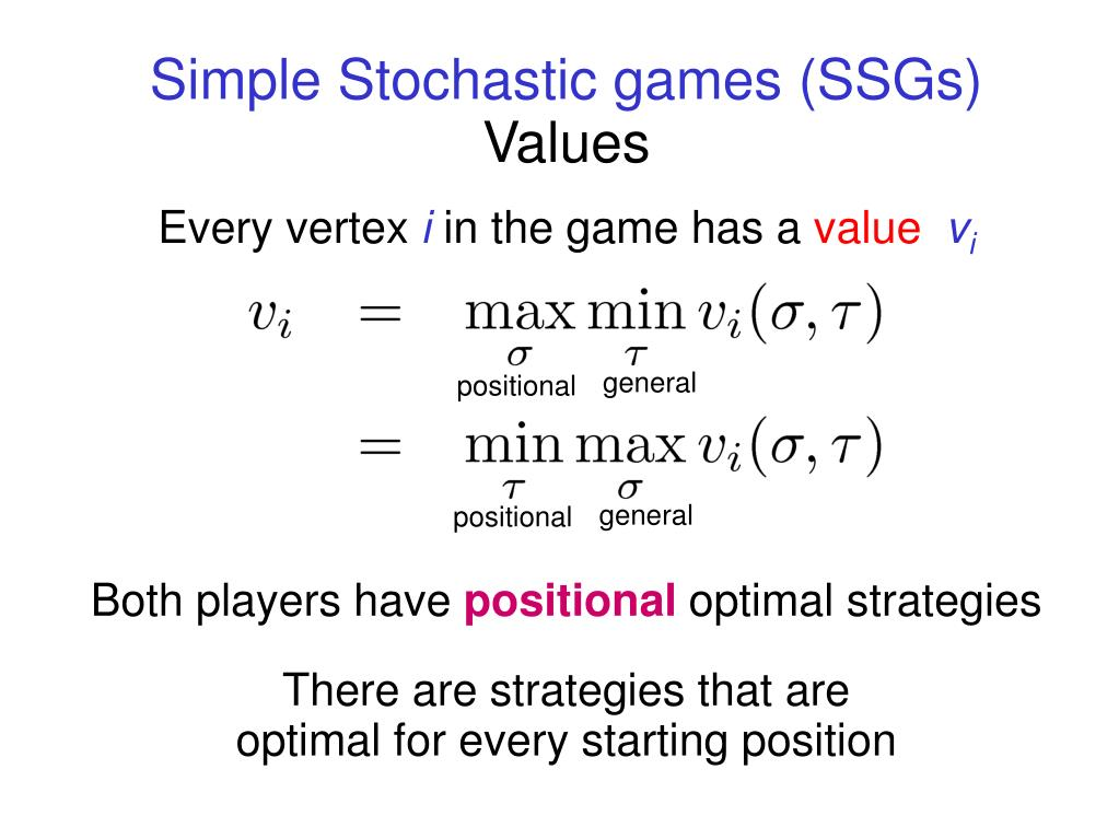 Simple Stochastic games (SSGs)