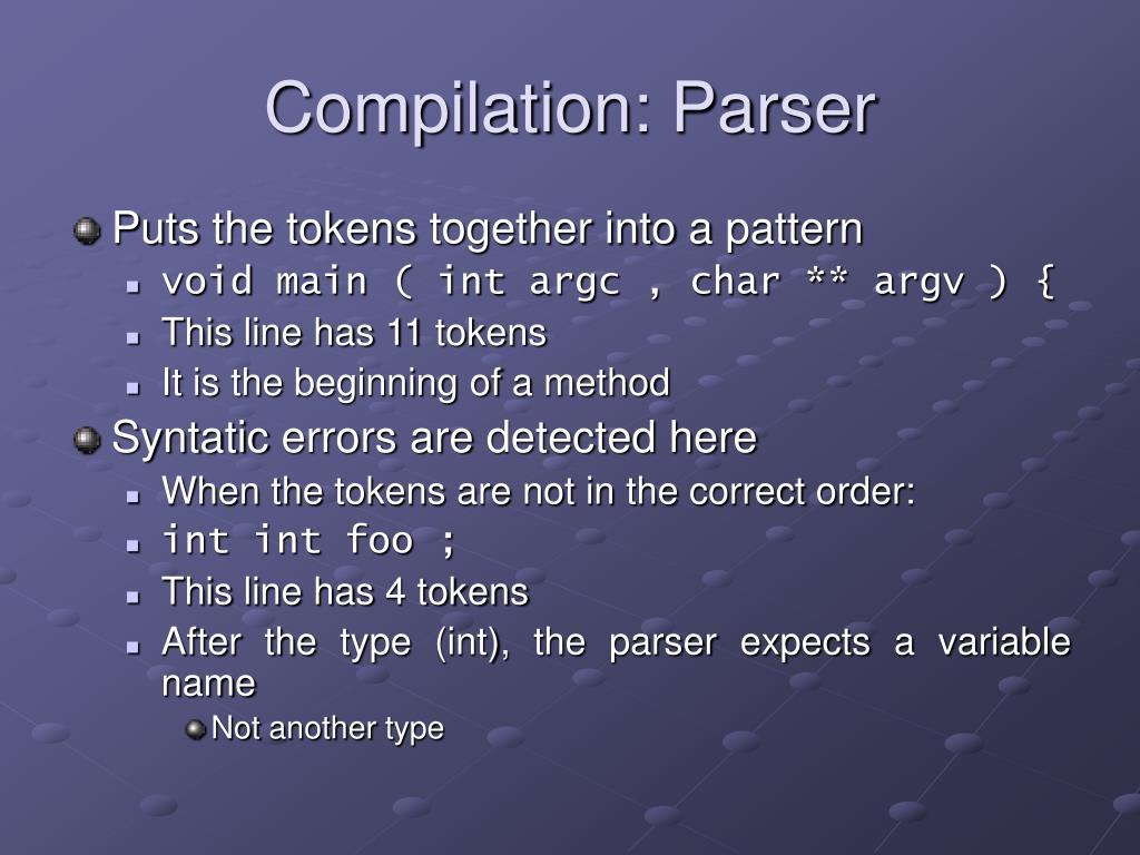Compilation: Parser