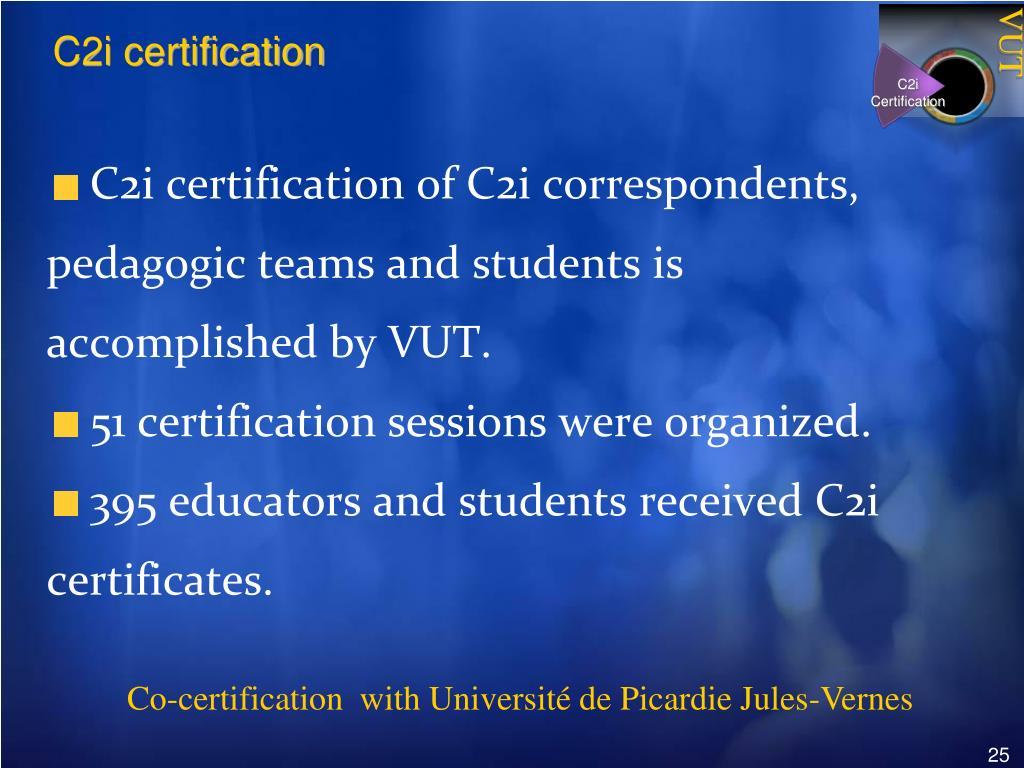 C2i Certification