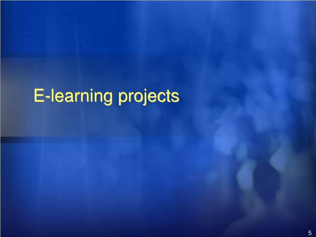 E-learning projects