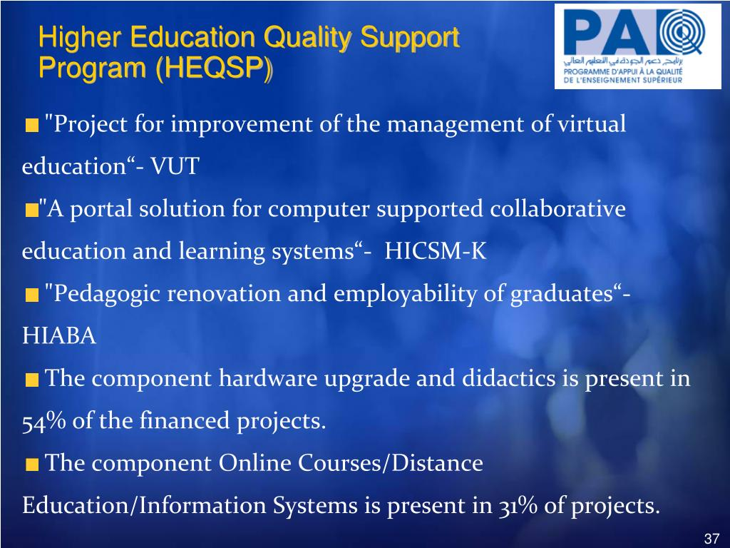 Higher Education Quality Support Program (HEQSP)