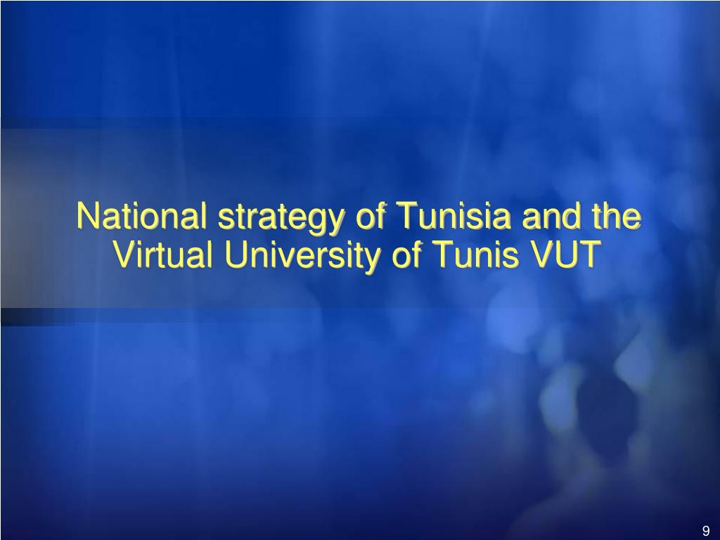 National strategy of Tunisia and the