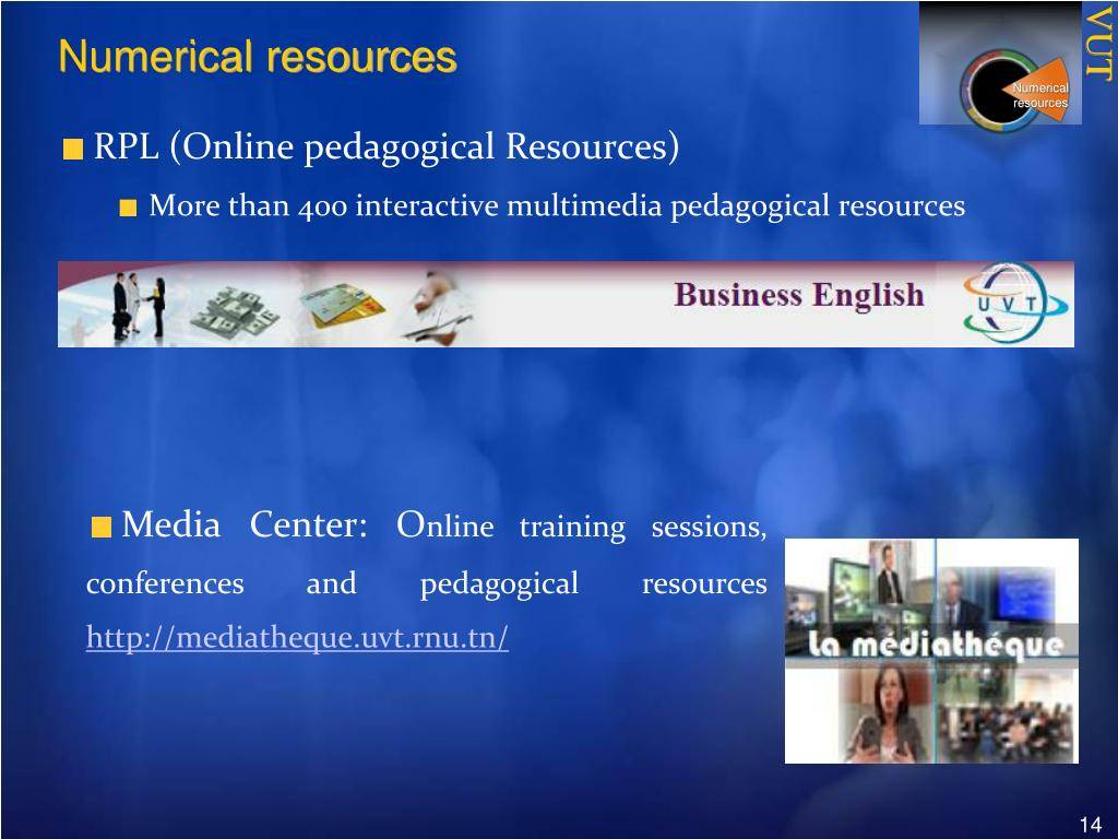 Numerical resources