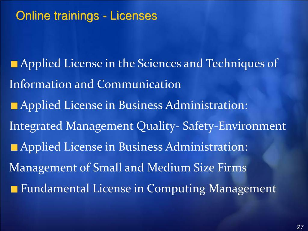 Online trainings - Licenses
