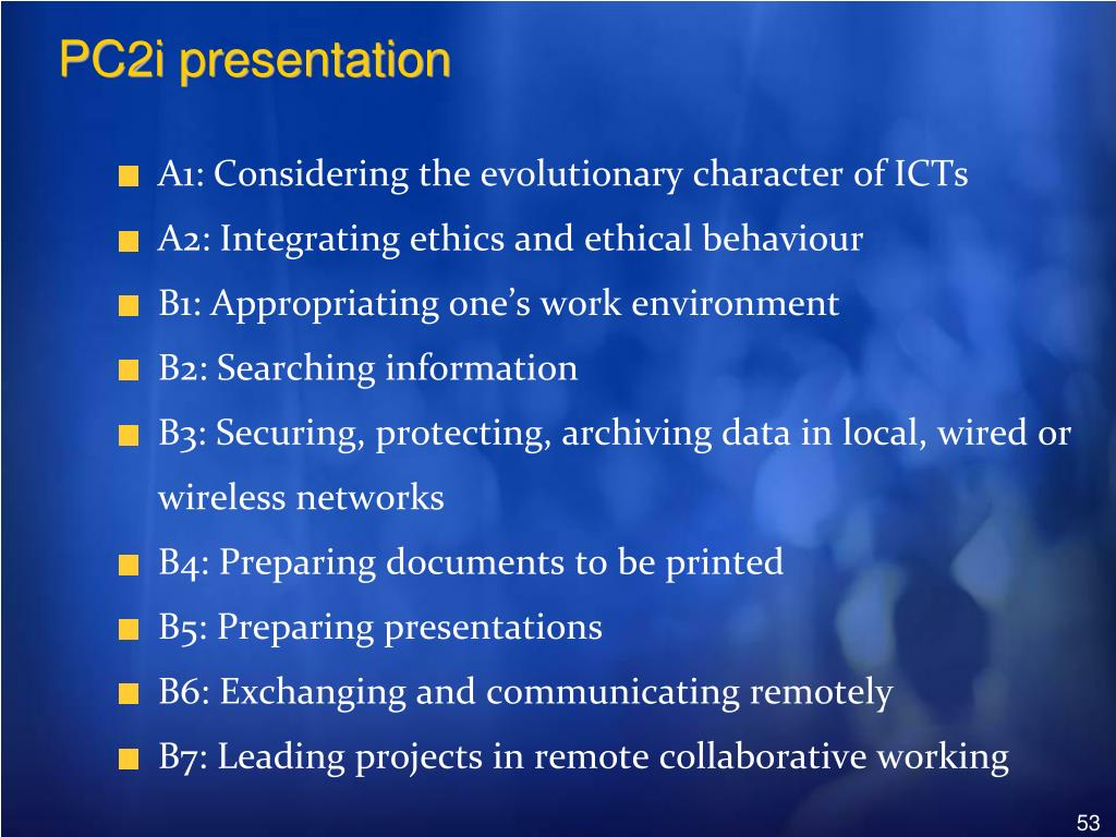 PC2i presentation