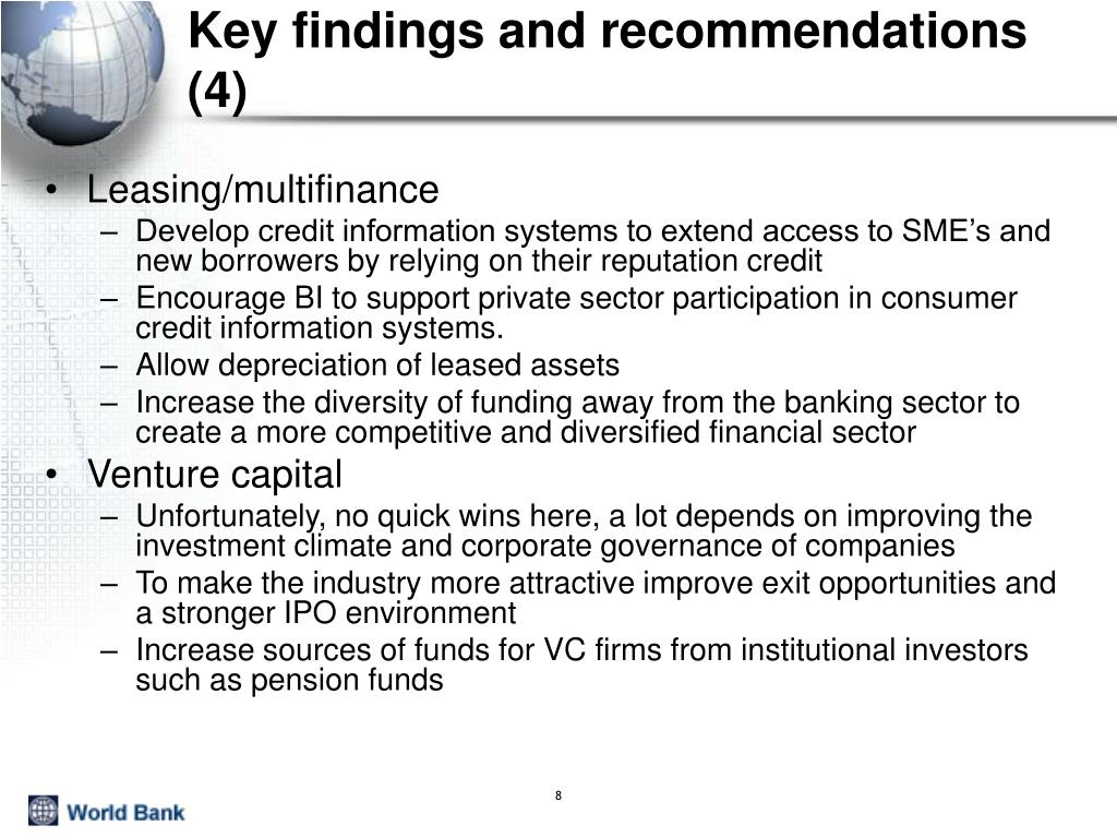 Key findings and recommendations (4)
