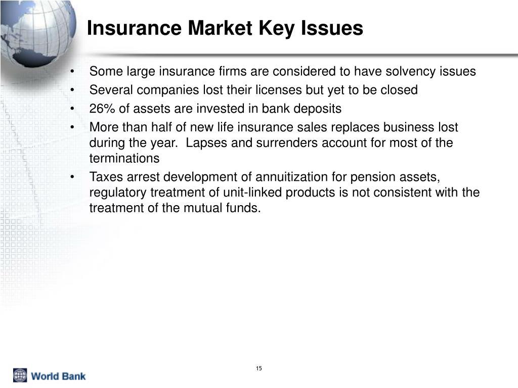Insurance Market Key Issues