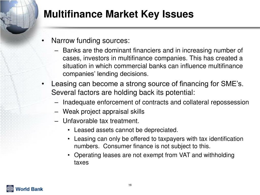 Multifinance Market Key Issues