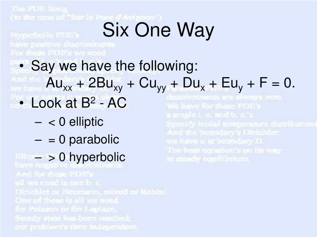 Six One Way