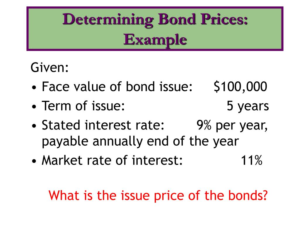 Determining Bond Prices: Example